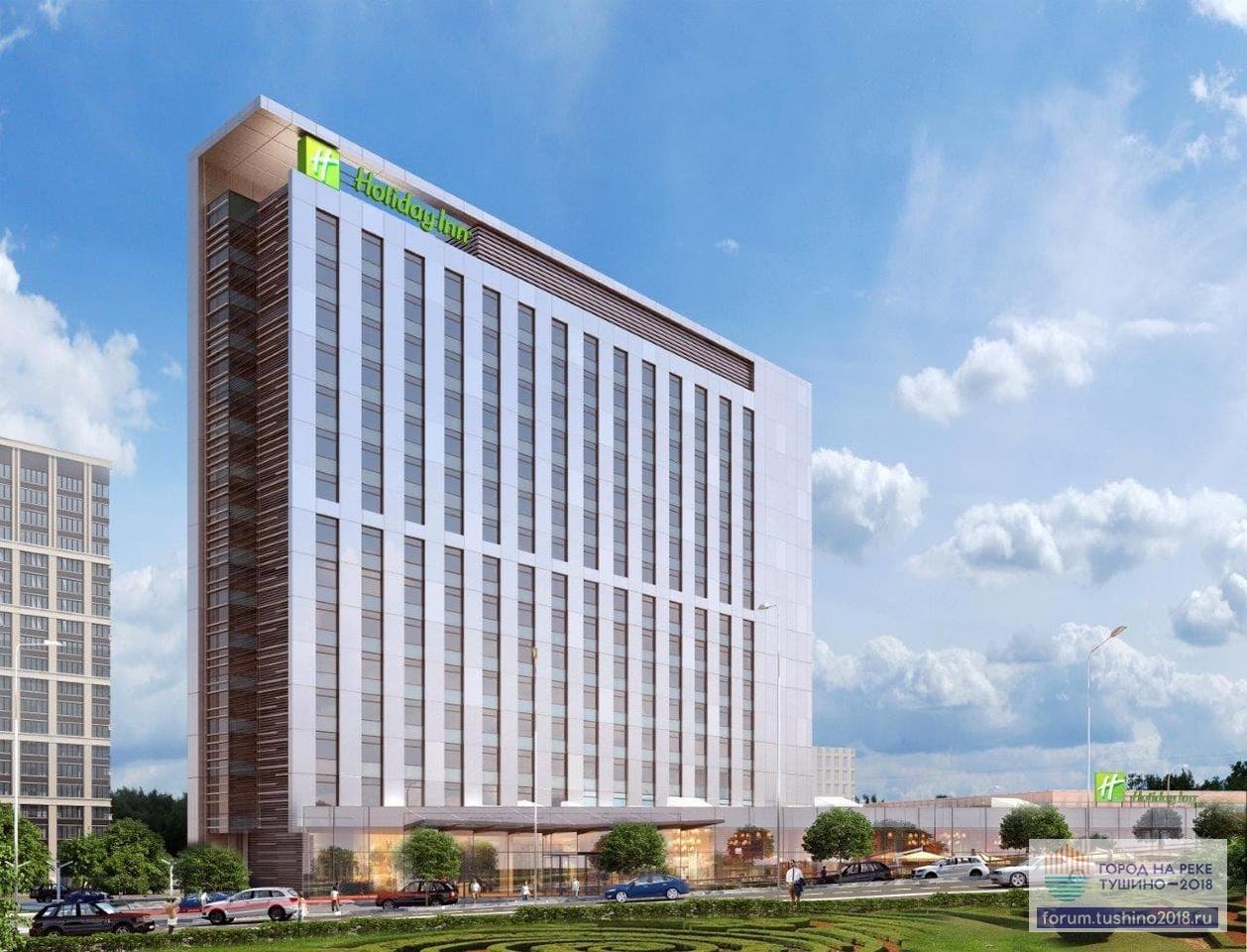 Здание гостиницы будет возведено вдоль Волоколамского шоссе, естественным образом отделяя жилые кварталы от большого города.