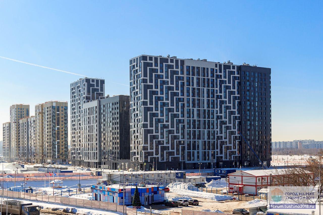 Квартал 1 Вид с эстакады Волоколамского шоссе