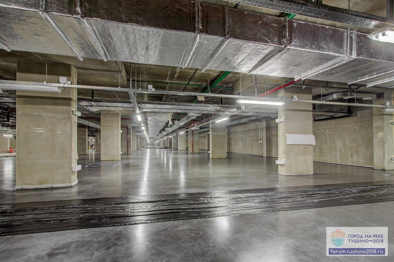 Квартал 2 Финишное покрытие пола на уровне -1 паркинга