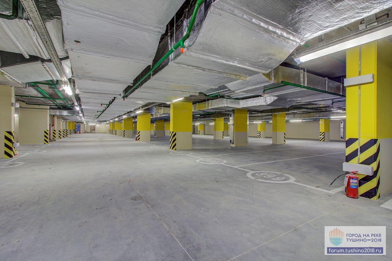 Квартал 2 Разметка машиномест на уровне -2 паркинга